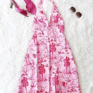 Eva Franco pink halter dress size 2 full skirt